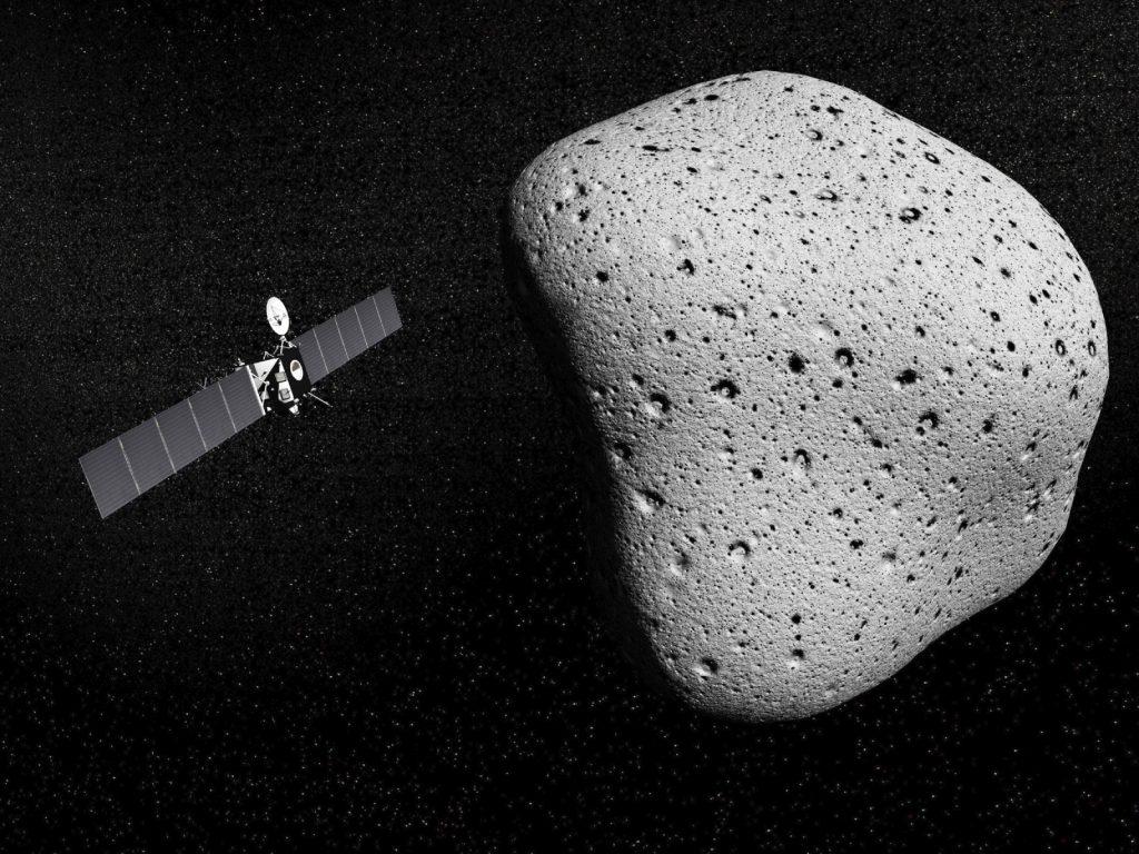 Rosetta probe and comet 67P Churyumov-Gerasimenko - 3D render