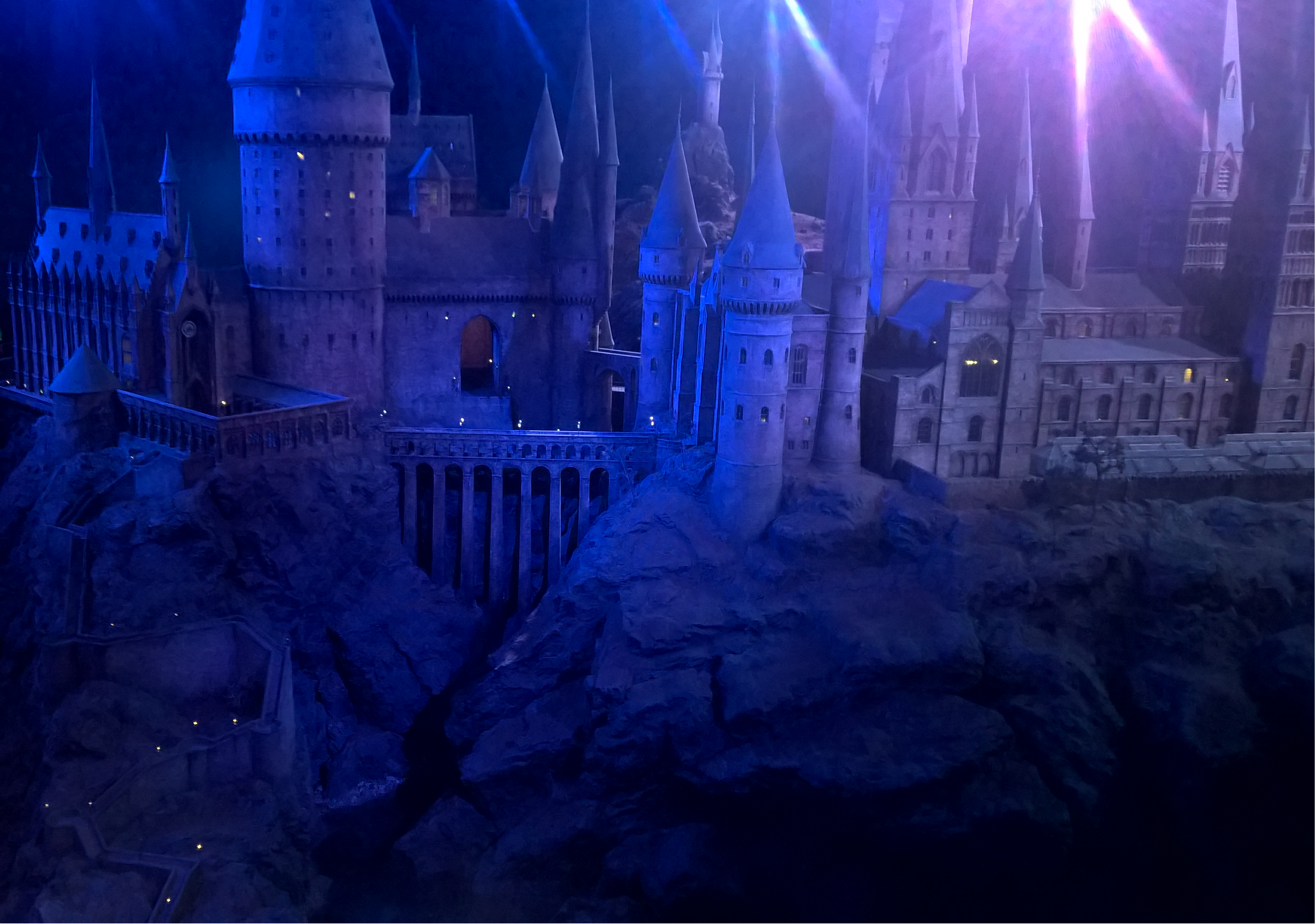 A scale model of the Hogwarts castle used to film the outdoor scenes of Hogwarts