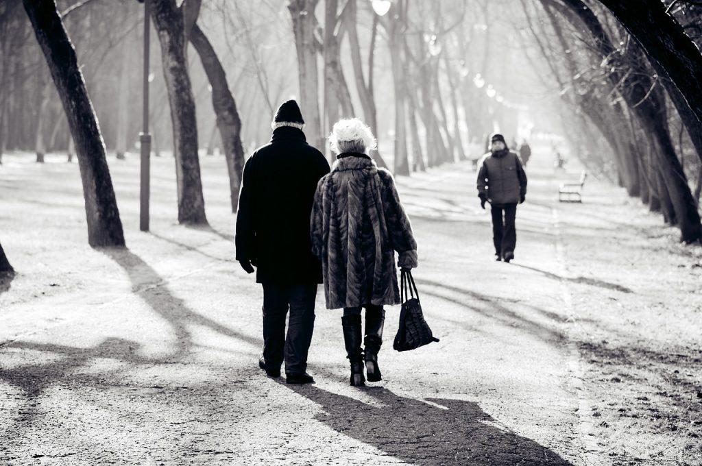 Couple Retired Pension Park