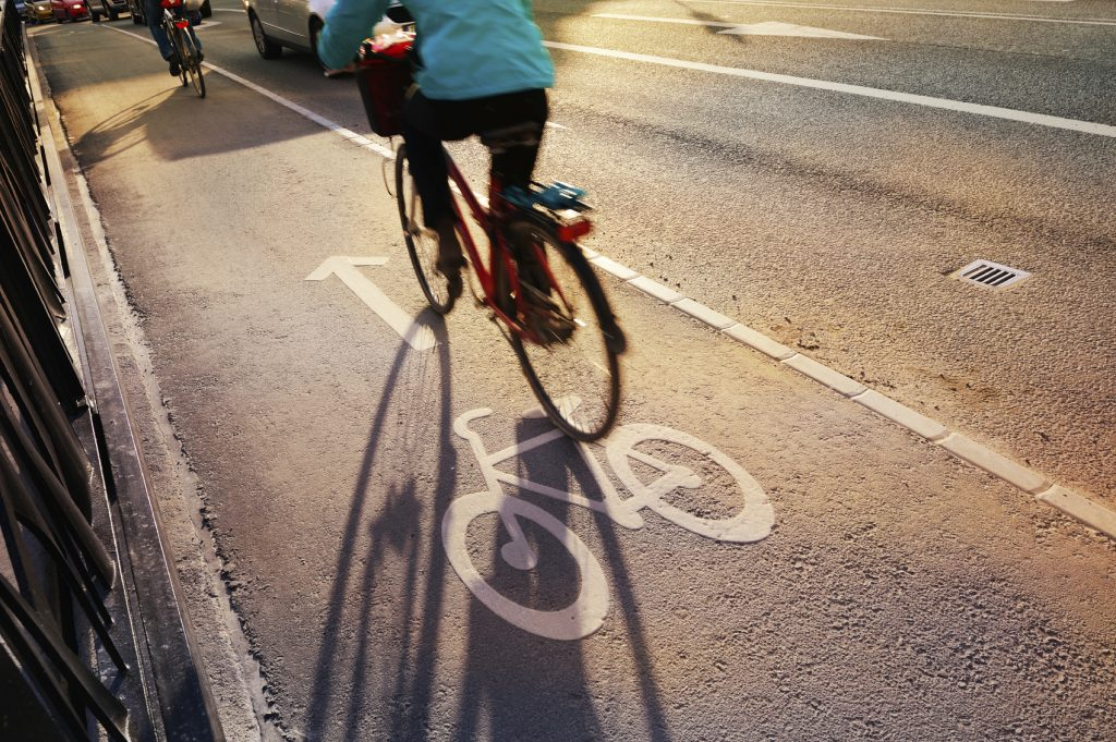 Cyclist Crossing Bridge -iStock_000020459259_Medium
