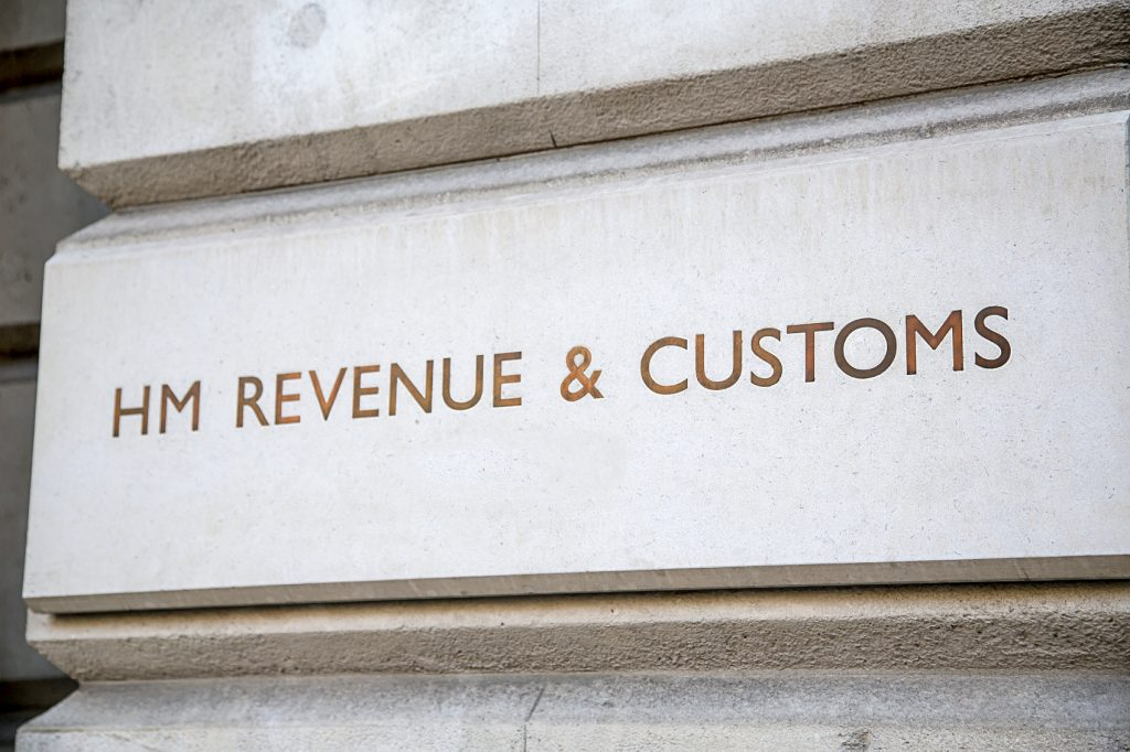 HM Revenue & Customs Sign, Westminster, London