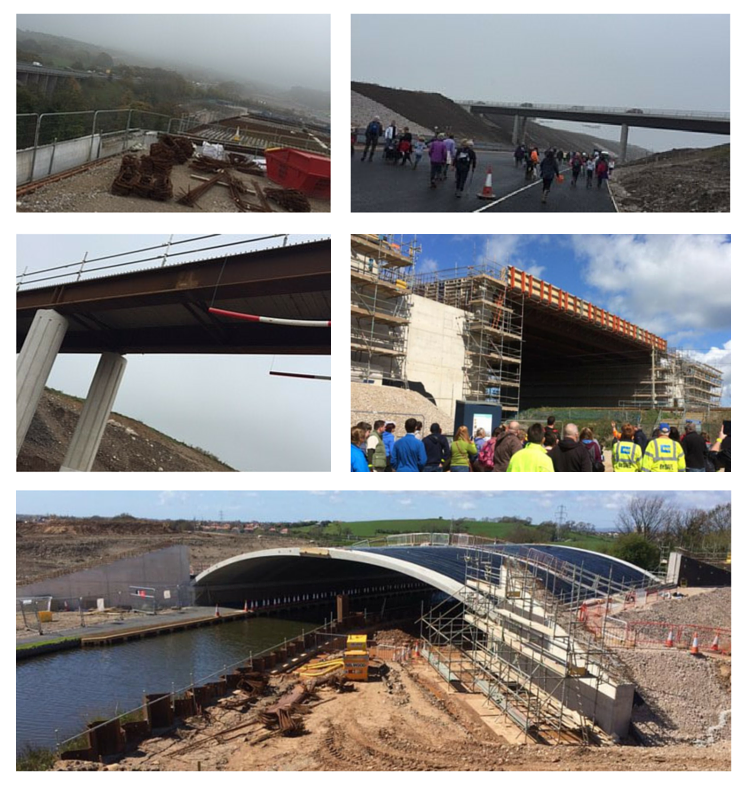 Photos of the construction of the Heysham to M6 Link, taken by our team members Anna and Lisa