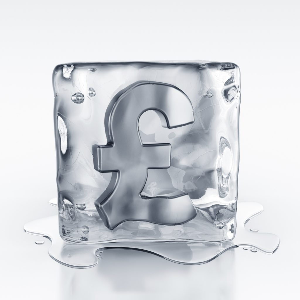 icecube with pound symbol inside