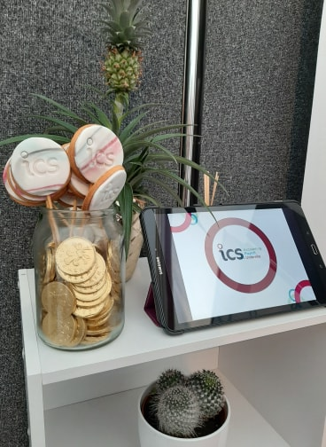 ICS branded biscuits at North Lancs Expo 2019