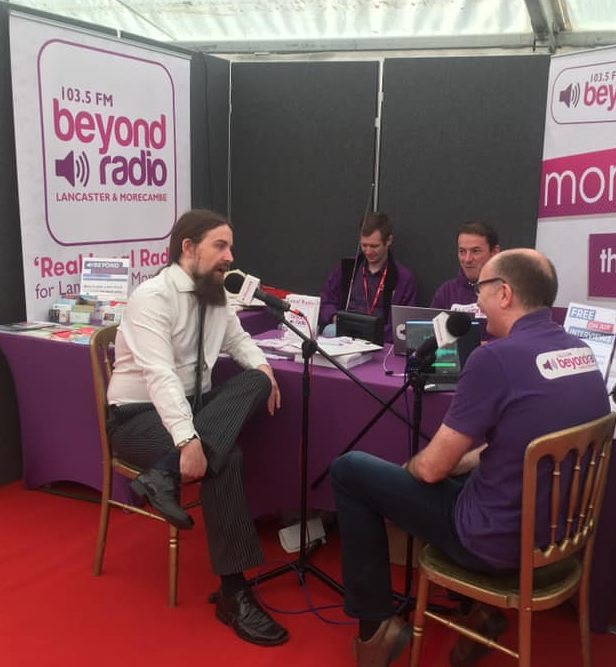 Dan at ICS on Beyond Radio at North Lancs Expo